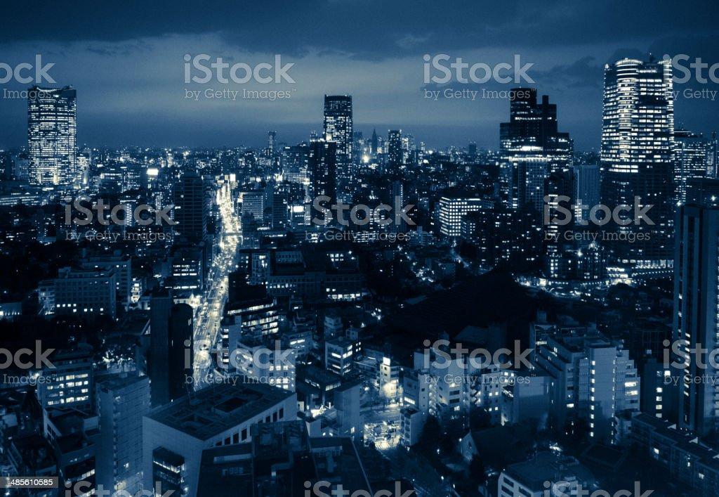 Tokyo Skyline at Dusk stock photo