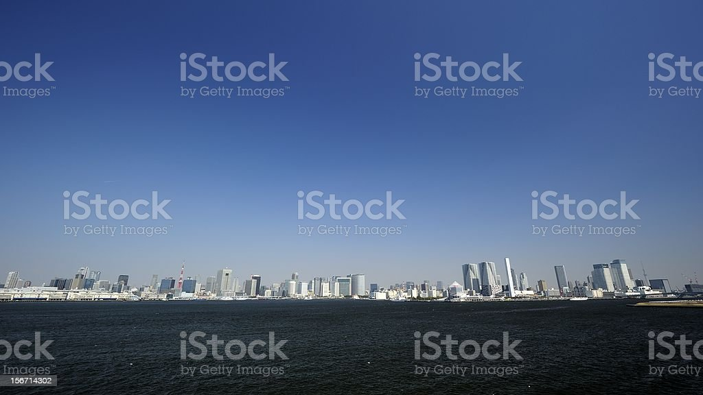 Tokyo skyline at fine day royalty-free stock photo