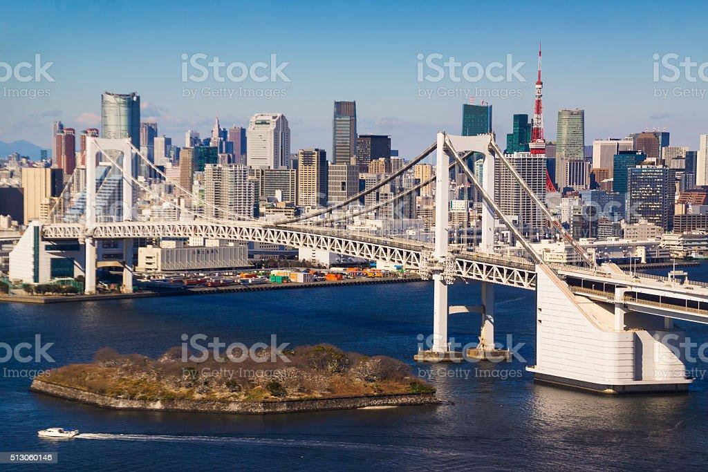Tokyo Skyline from Tokyo Bay stock photo