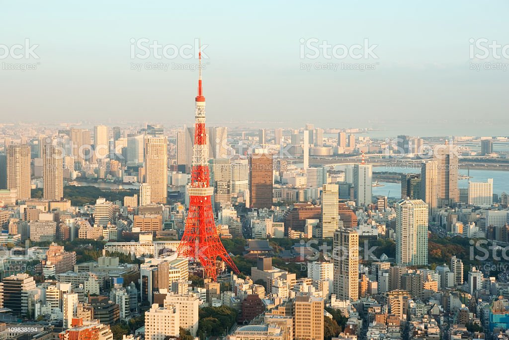 Tokyo skyline in the afternoon stock photo