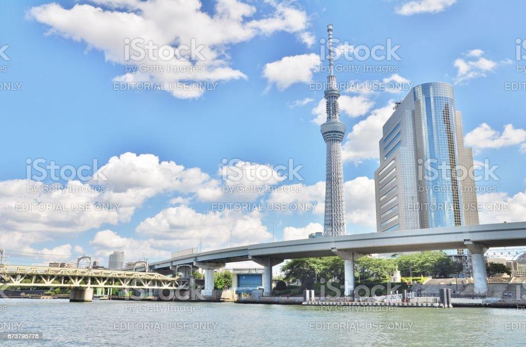 Tokyo Skytree and Sumida Ward Office building. stock photo