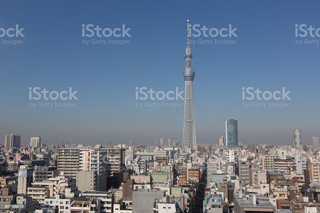 Tokyo Skytree in Japan stock photo