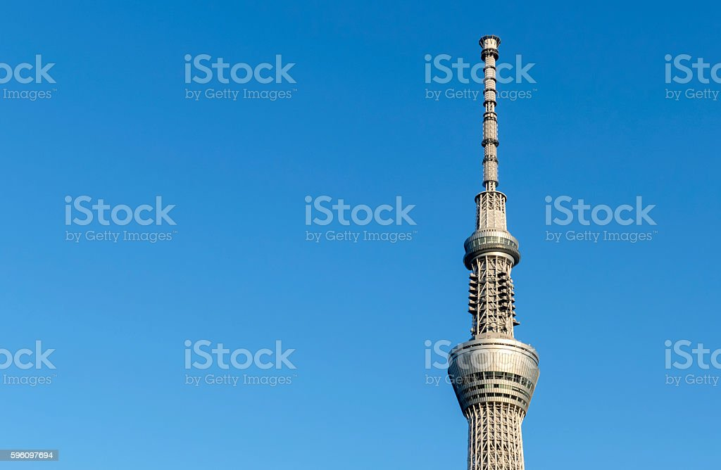 Tokyo Skytree, landmark of Japan. the famous broadcast radio tower stock photo