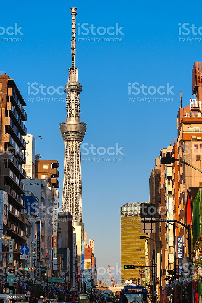Tokyo Skytree tower in city view stock photo