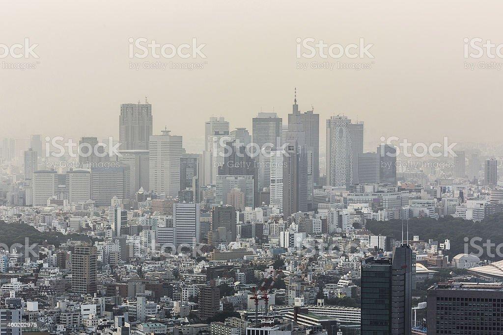 Tokyo smog stock photo