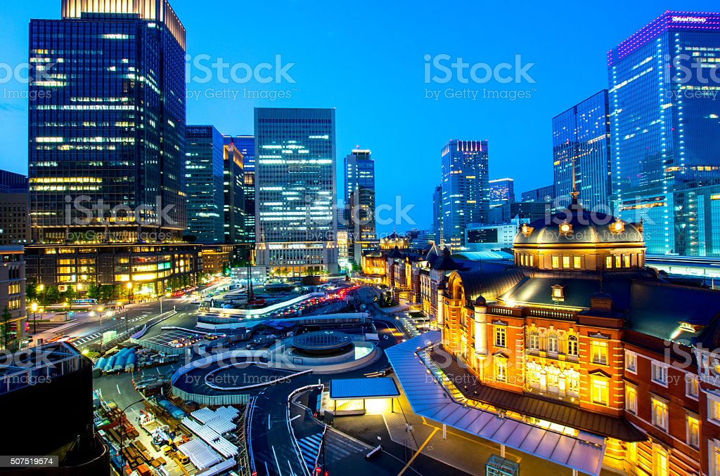 tokyo station,tokyo(prefectures),tourism of japan stock photo