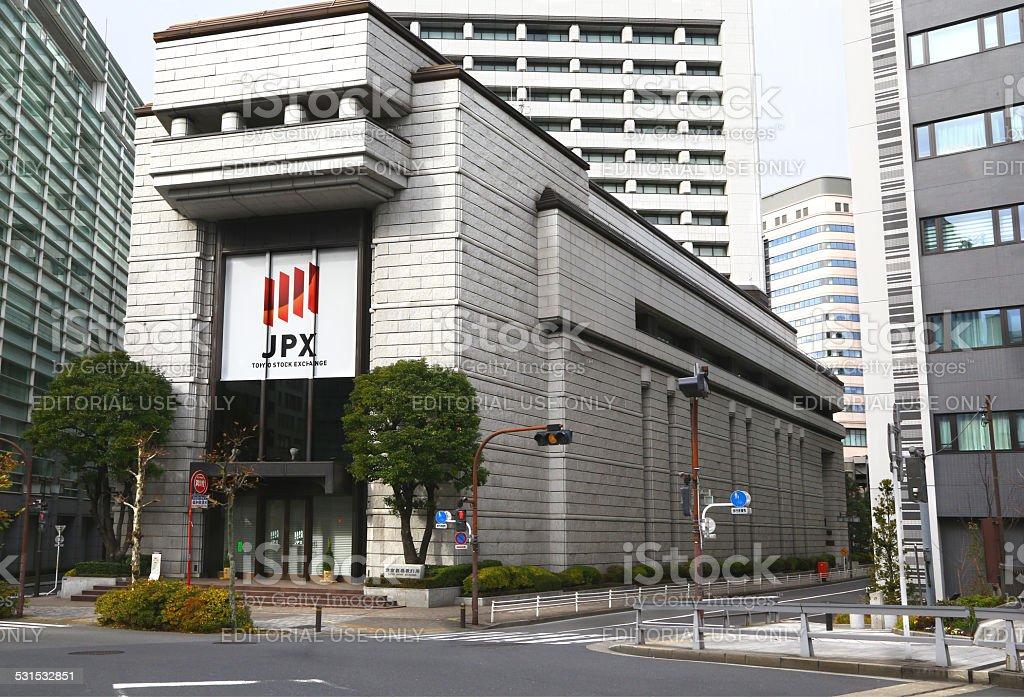 Tokyo Stock Exchange building stock photo