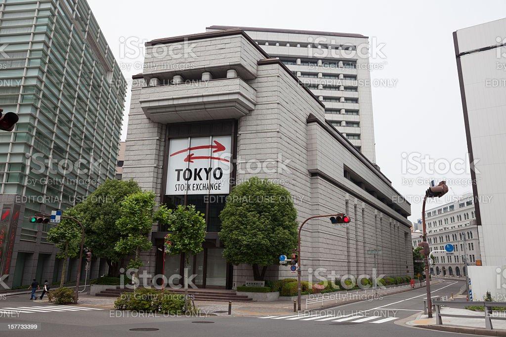 Tokyo Stock Exchange in Japan stock photo