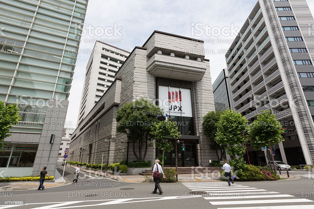 Tokyo Stock Exchange in Japan stock photo