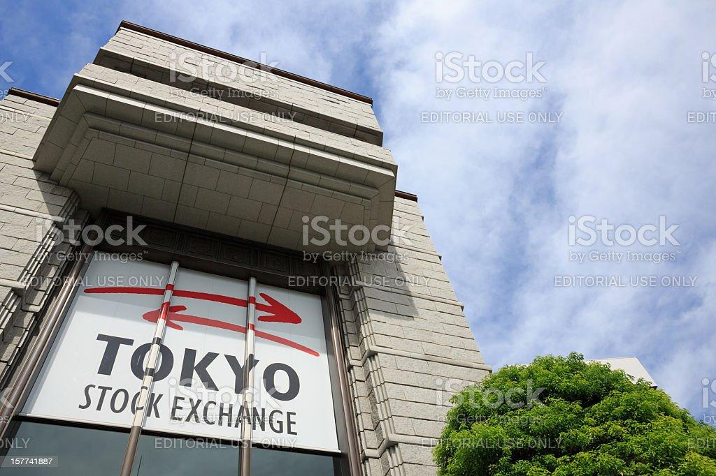 Tokyo Stock Exchange stock photo