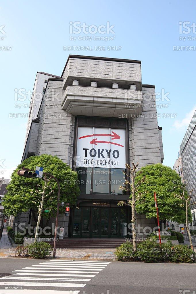 Tokyo Stock Exchange royalty-free stock photo