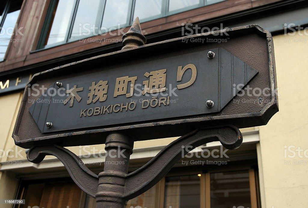 Tokyo Street Sign royalty-free stock photo