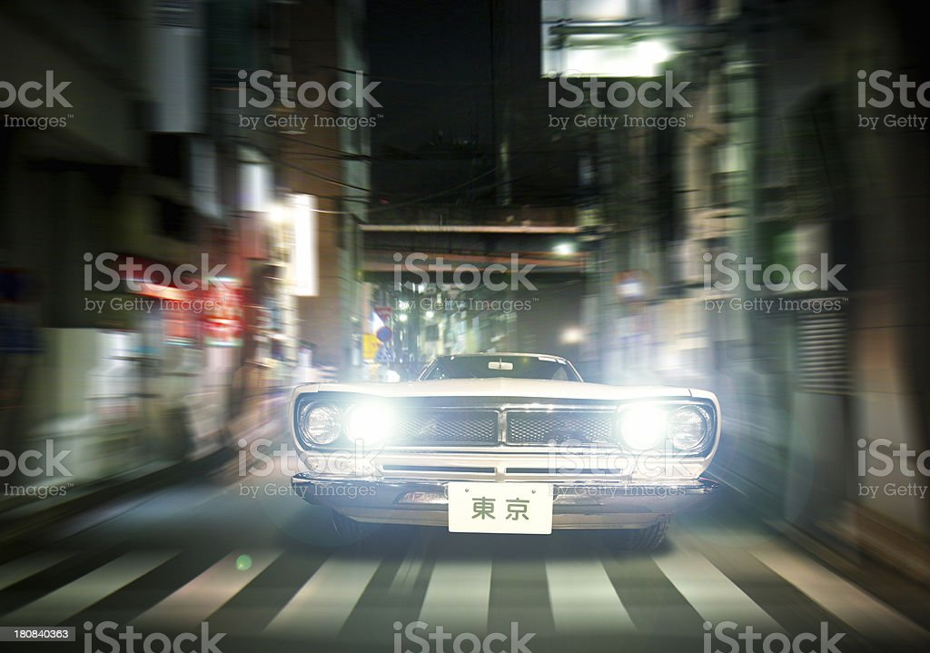 Tokyo streets pursuit stock photo