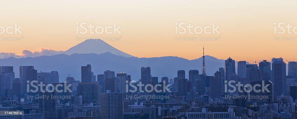 Tokyo Sunset royalty-free stock photo