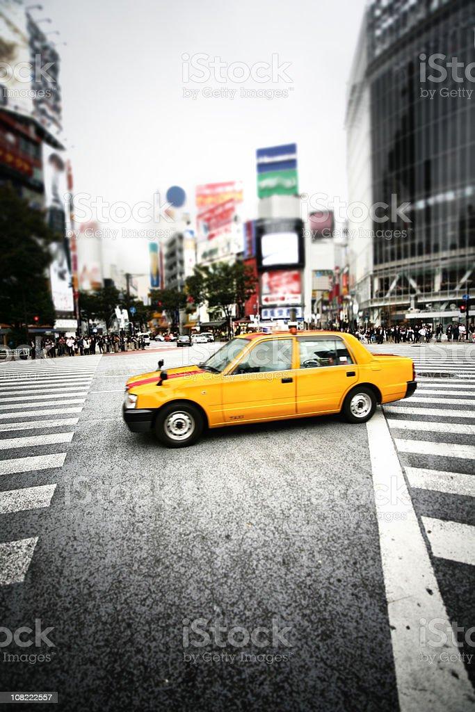 Tokyo taxi stock photo