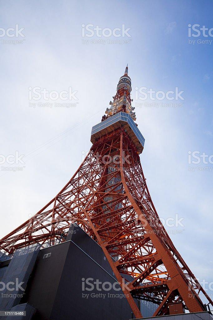 Tokyo Tower at dusk, Japan royalty-free stock photo