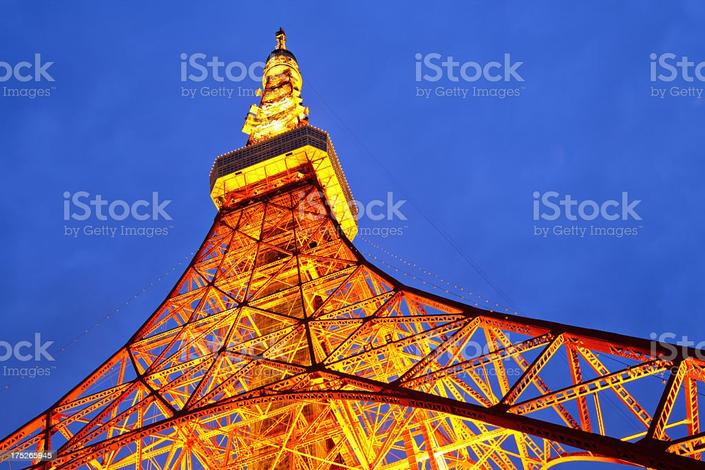 Tokyo Tower by Night royalty-free stock photo