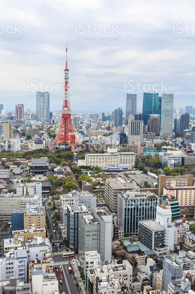 Tokyo Tower cityscape Japan. stock photo