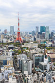 Tokyo Tower cityscape Japan.