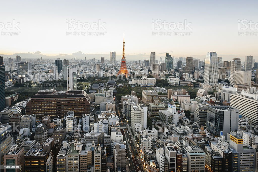 Tokyo Tower Cityscape View stock photo