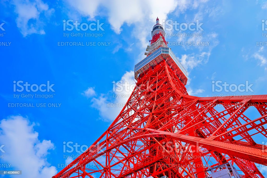 Tokyo Tower in a sunny day in Tokyo stock photo