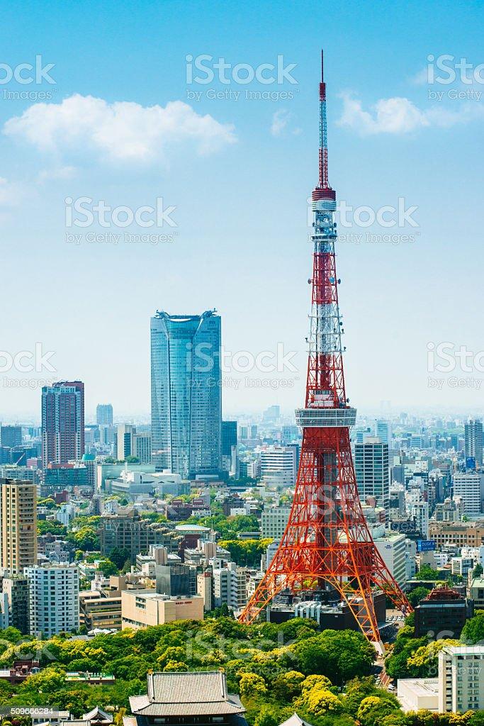 Tokyo Tower Japan stock photo