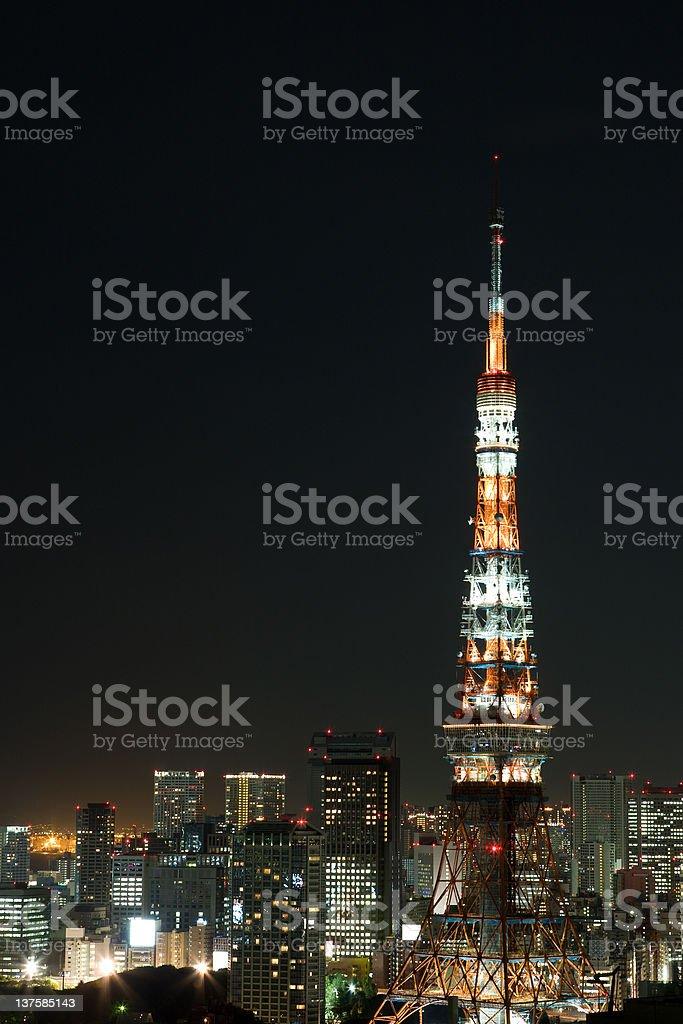 Tokyo Tower (night version) royalty-free stock photo