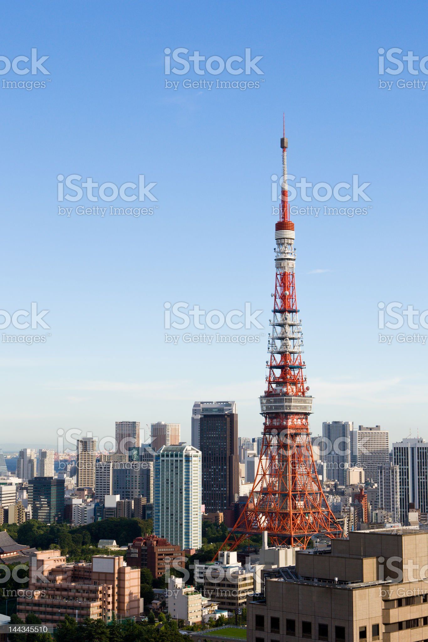 Tokyo Tower (midday version) royalty-free stock photo