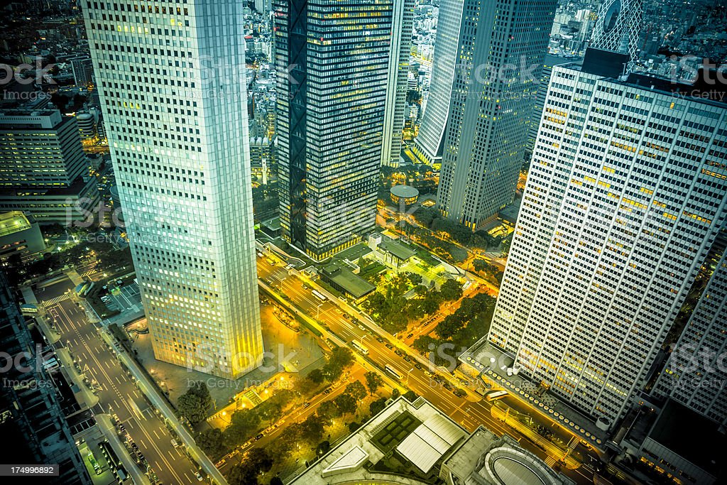 Tokyo Towers at Night royalty-free stock photo