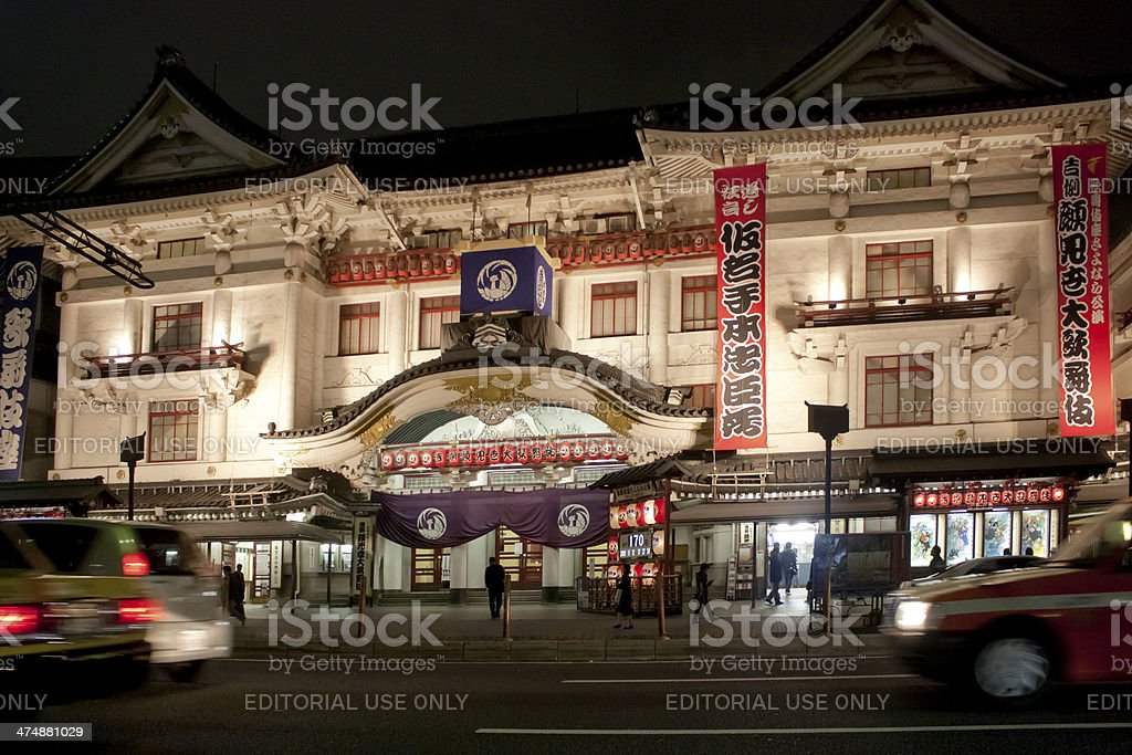 Tokyo traditional theatre royalty-free stock photo
