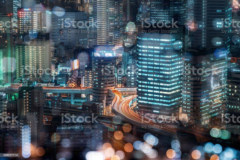 Tokyo traffic stock photo