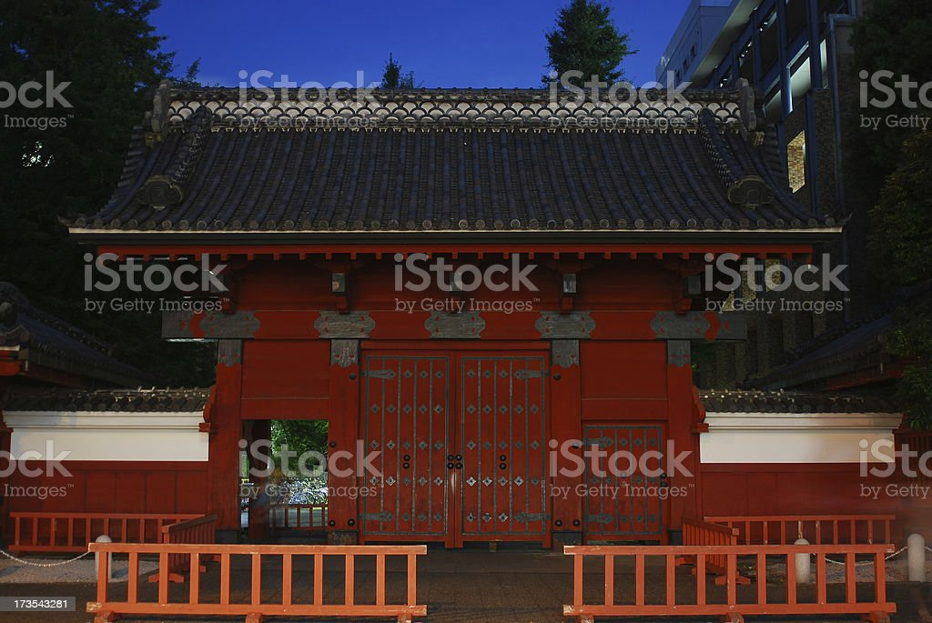 Tokyo University Red Gate at Night stock photo