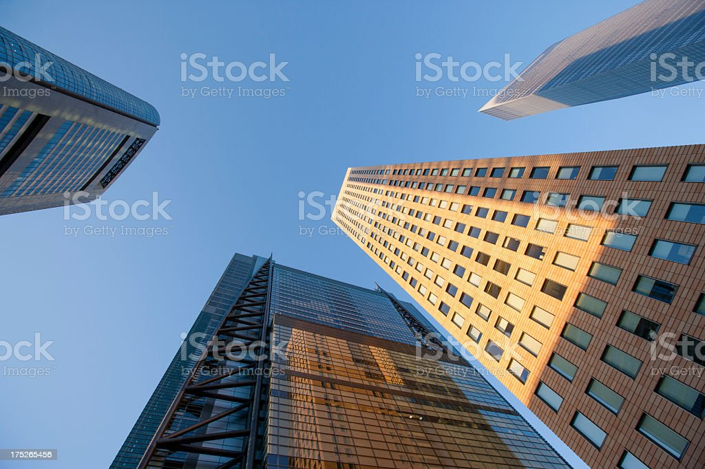 Tokyo's urban landscape as seen from beneath. royalty-free stock photo
