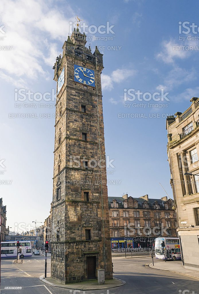 Tolbooth Steeple at Glasgow Cross stock photo