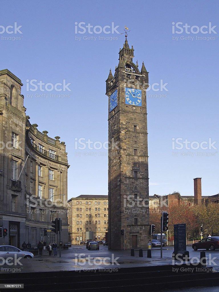 Tolbooth Steeple, Glasgow Cross stock photo