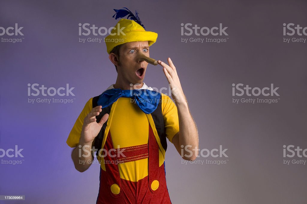 told a lie royalty-free stock photo