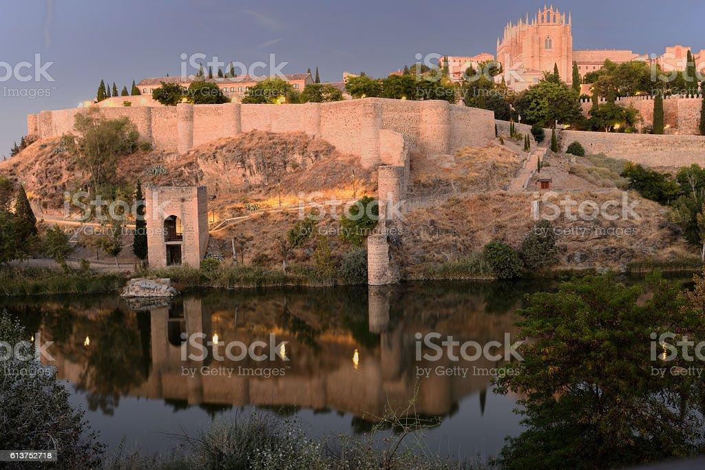 Atardecer de Toledo - foto de stock