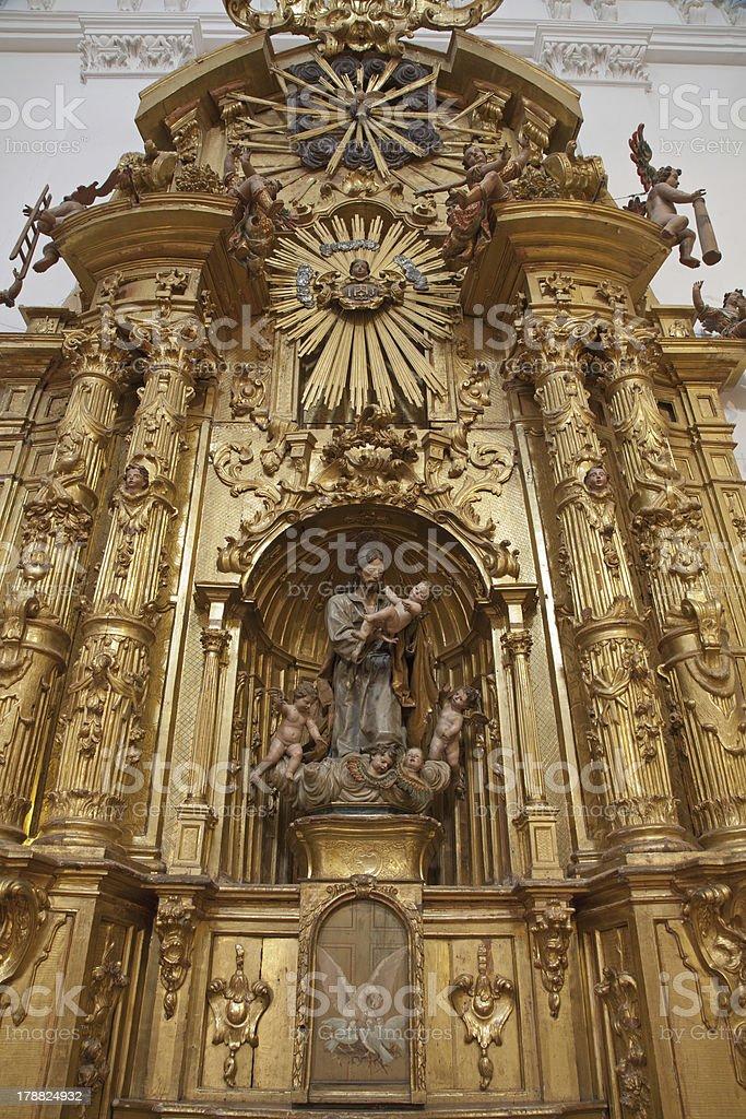 Toledo - Baroque side altar of Saint Joseph royalty-free stock photo