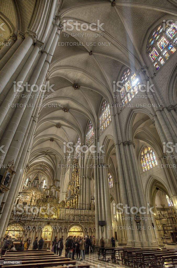 Toledo cathedral stock photo