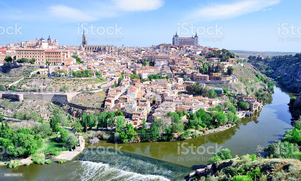 Toledo Cityscape, Spain stock photo