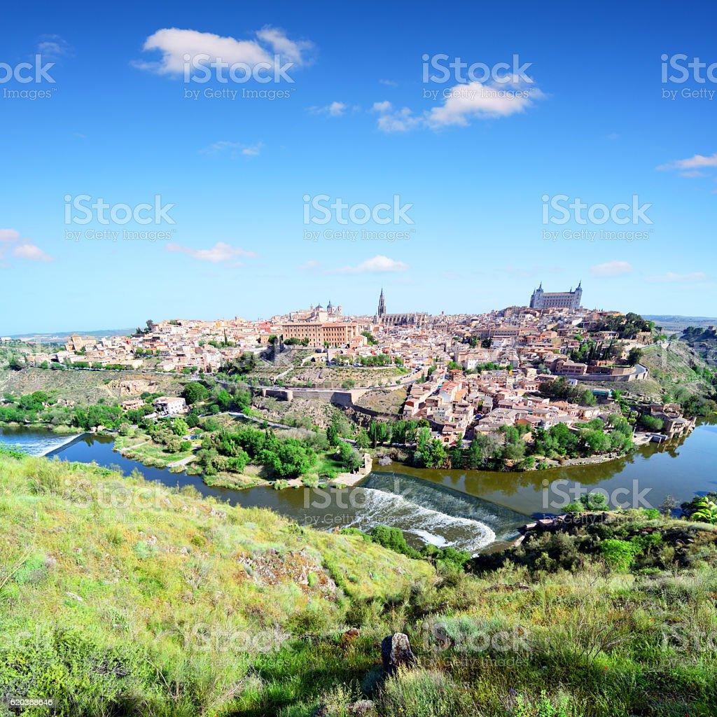 Toledo Cityscape, Spain stock photo