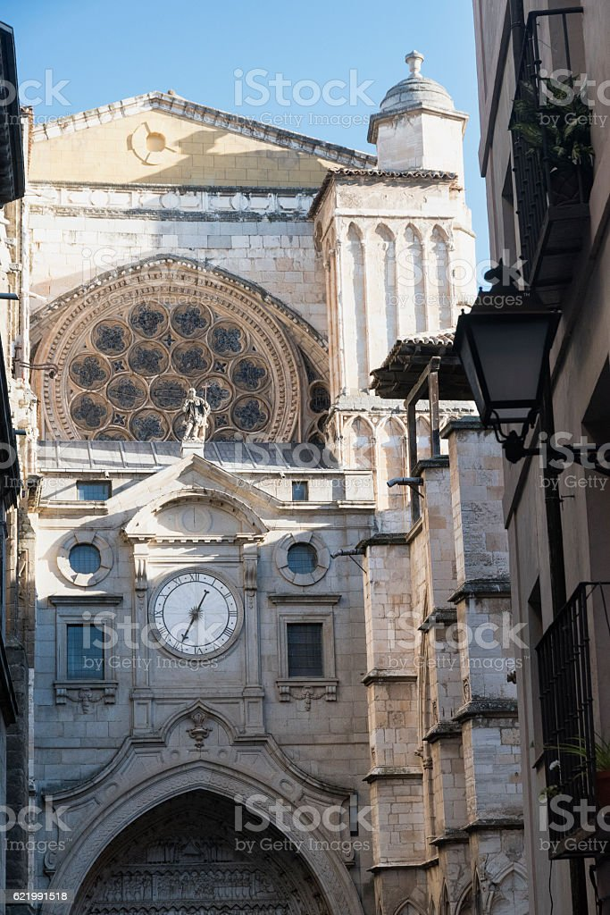 Toledo (Spain): gothic cathedral stock photo