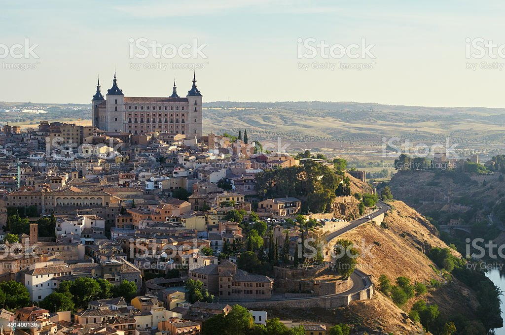 Toledo in Spain at sunrise stock photo