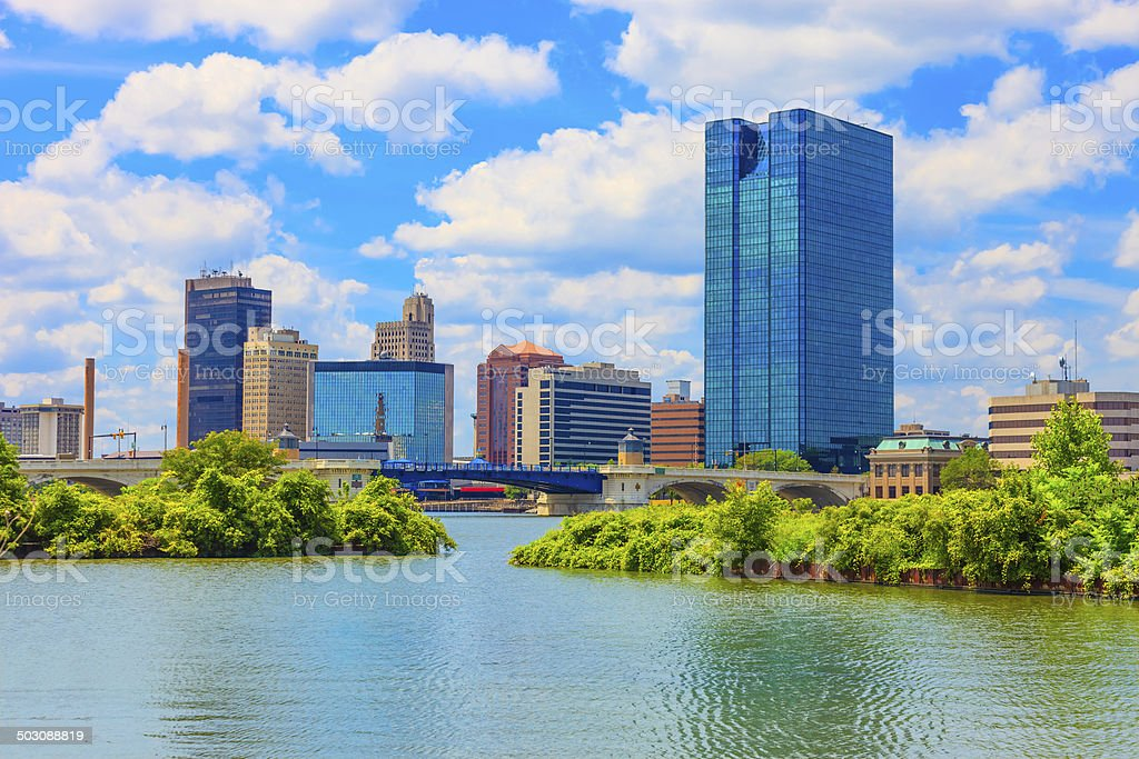 Toledo Ohio skyline stock photo