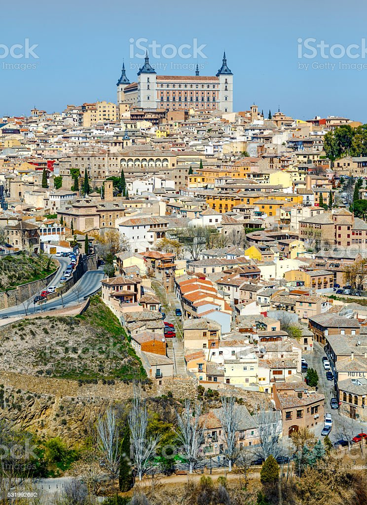 Toledo old city from Parador view point, Spain stock photo
