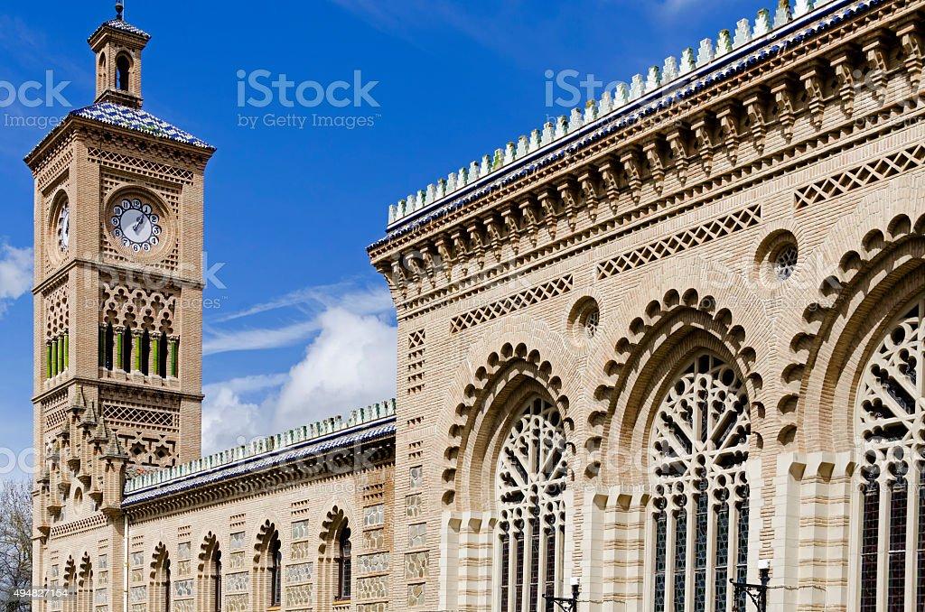 Toledo railway station in Spain stock photo