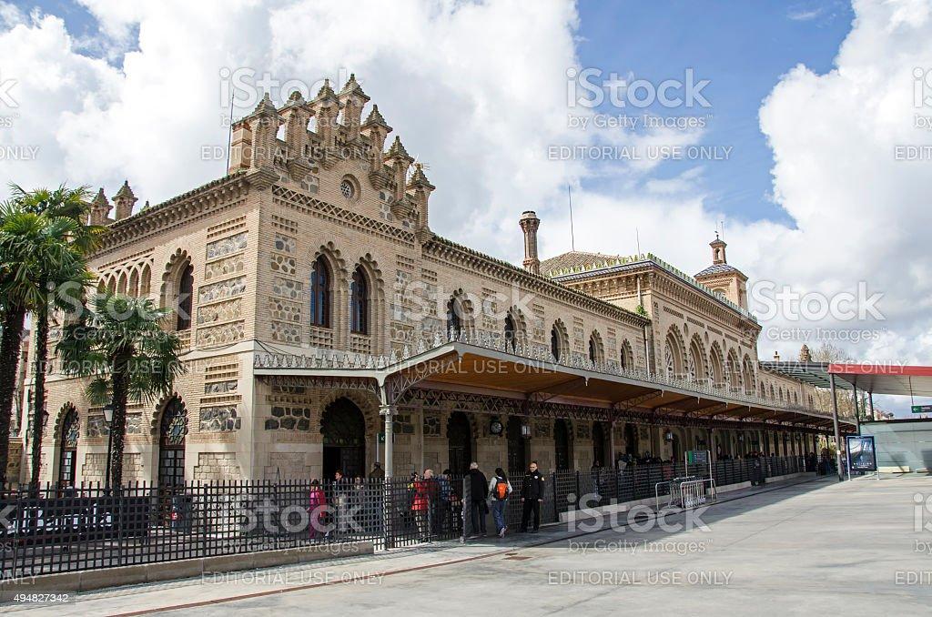 Toledo Railway Station, Spain stock photo