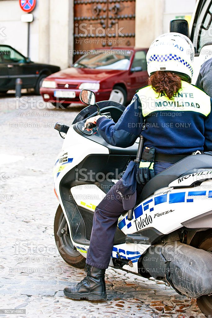 Toledo, Spain - Police in action stock photo