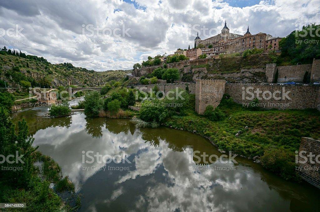 Toledo, Spain & Tagus River stock photo