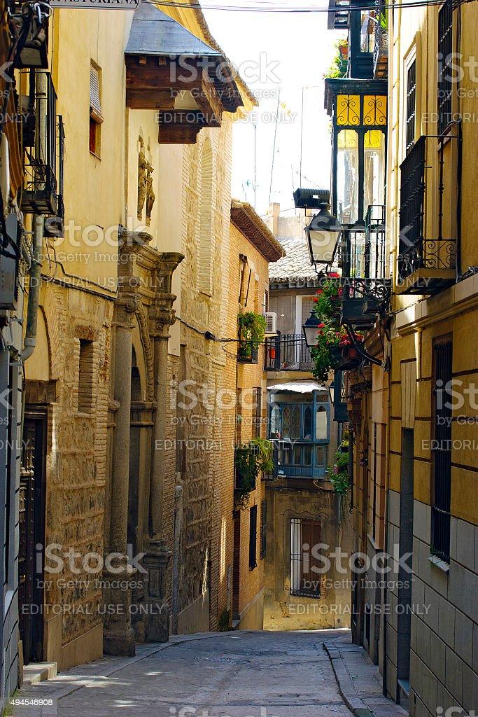 Toledo, Spain - typical narrow streets stock photo